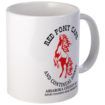 Red Pony Cafe Mug Fanteesia